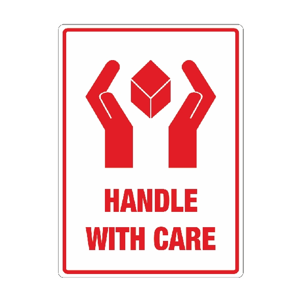 Handle With Care Labels Packaging2buy Adhesive