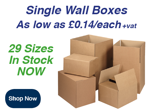 single wall cardboard boxes for packing and storage