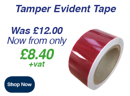 tamper evident tape to secure parcels