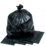 strong black rubbish sacks & bin liners