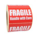 adhesive labels printed fragile handle with care