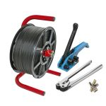 polypropylene strapping kit with sealer and dispenser