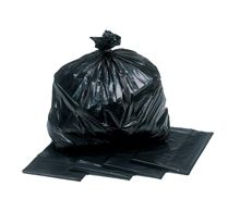 black plastic refuse and rubbish sacks