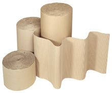 corrugated paper rolls for packaging protection