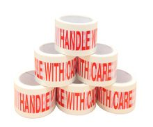 printed warning adhesive tapes handle with care