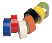 Coloured adhesive vinyl packing tape