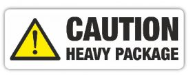 caution heavy self adhesive  labels for shipping and storage