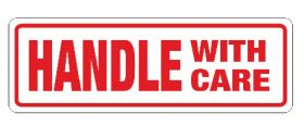 handle with care sticky labels for shipping and storage