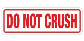 do not crush labels for shipping and storage