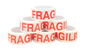 fragile caution adhesive tape