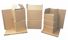 cardboard boxes pack with 35 boxes in three sizes