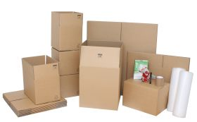 medium moving kit with moving boxes & accessories