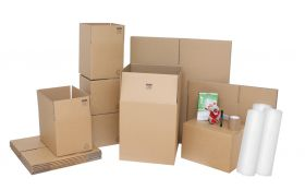 cardboard packing boxes and moving house accessories