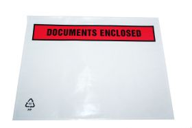 printed document enclosed envelopes self adhesive a5