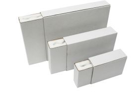 foam lined white postal boxes
