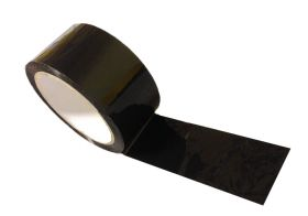 black adhesive polypropylene packing tape