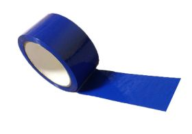 blue adhesive polypropylene packing tape