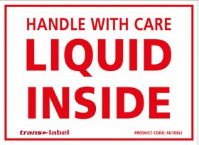 liquid inside labels for shipping and storage