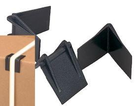 black plastic strapping edge protectors
