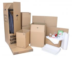 large moving kit & accessories, plus cardboard wardrobe boxes