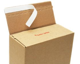 self seal cardboard postal box