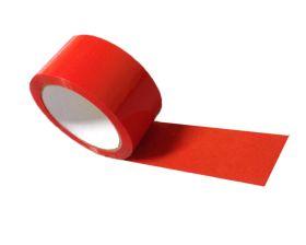 red adhesive polypropylene packing tape