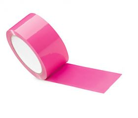 pink adhesive polypropylene packing tape