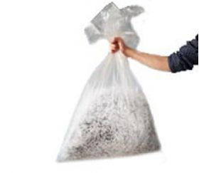clear plastic sacks & bin liners