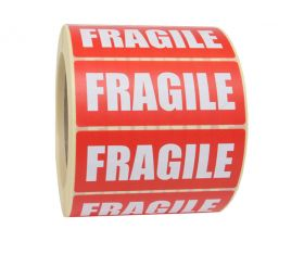 printed fragile self adhesive labels