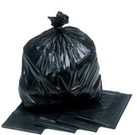 strong black rubbish sacks & bin liners