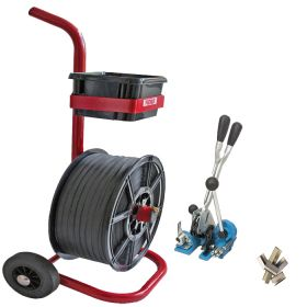 medium duty combination strapping kit with trolley