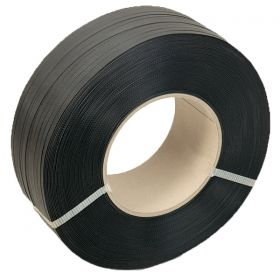 black heavy duty hand strapping on cardboard core
