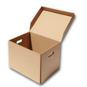 cardboard storage boxes with attached lid