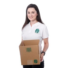 biodegradable packaging cartons in single-walled corrugated cardboard
