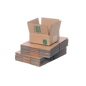 eco-friendly single wall boxes in sustainable cardboard
