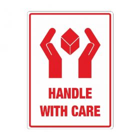 handle with care labels for shipping and storage