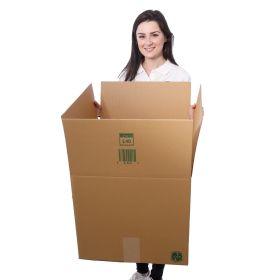 large cardboard boxes in single-walled corrugated cardboard