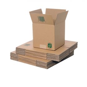 recyclable single wall boxes for biodegradable packaging