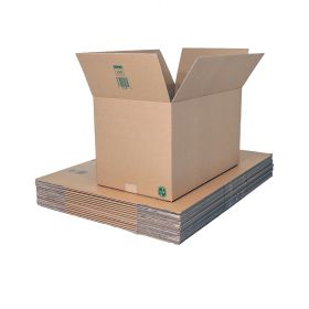 recyclable double wall loop boxes for shipping and storage