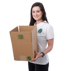 recyclable packaging boxes in single-wall corrugated cardboard