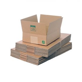 recyclable packaging boxes in single wall cardboard