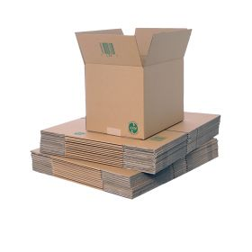 recyclable packing boxes in single wall cardboard