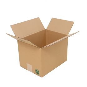 recyclable single wall boxes / cartons with smooth Kraft outer