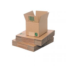 sustainable single wall boxes made from biodegradable packaging