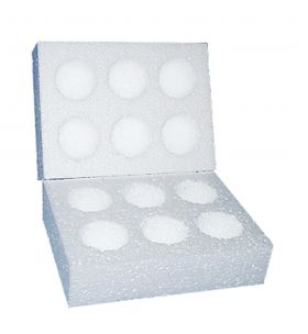 polystyrene egg postal boxes for medium sized eggs