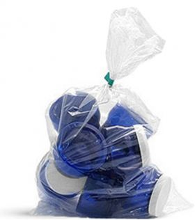clear medium duty polythene bags