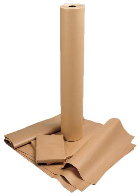 brown recycled paper supplied on rolls